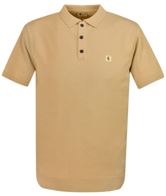 Gabicci Vintage Butterscotch Jackson Knit Polo Shirt