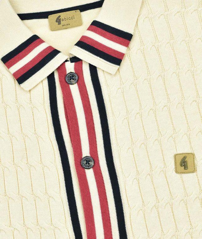 Gabicci Vintage Oat Danecroft Cable Knit Cardigan