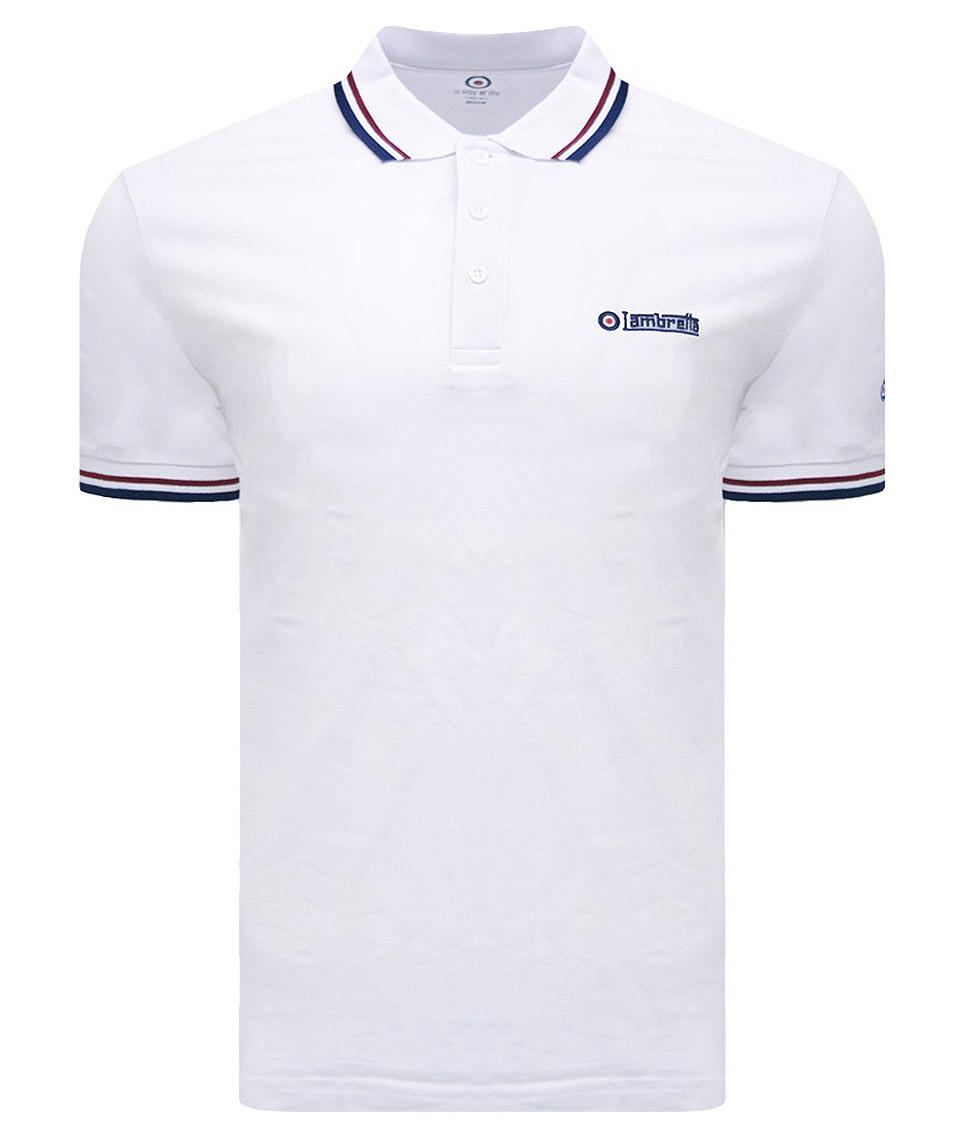 Lambretta Polo shirt Short Sleeve Polo Shirt Mens 4 colours