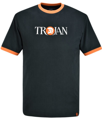 Trojan Records Black Helmet Logo T-Shirt