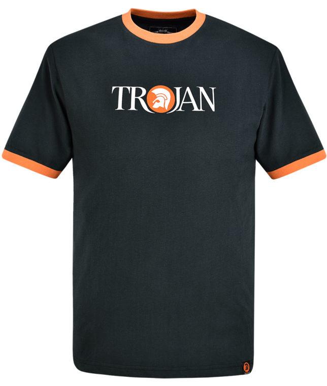 Trojan Records Black Helmet Logo T-Shirt