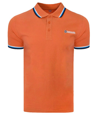 Lambretta Orange Triple Tipped Polo Shirt