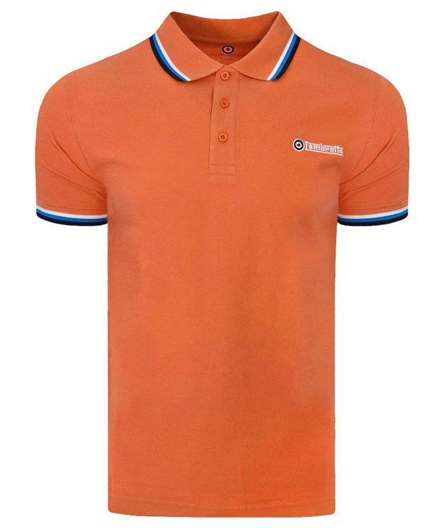 Lambretta Orange Triple Tipped Polo Shirt