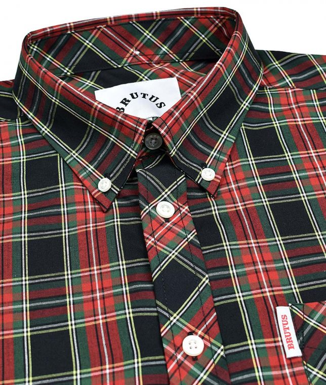 Brutus Black & Red Tartan Check Shirt