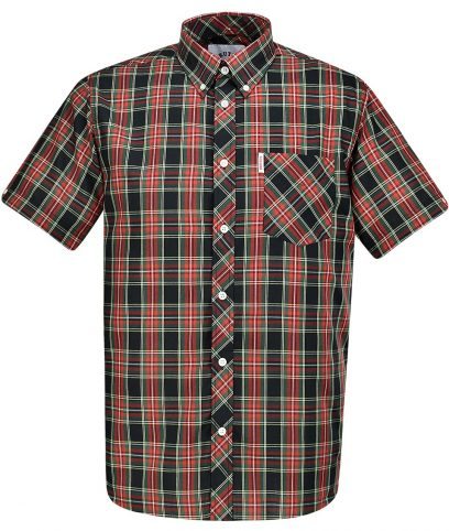 Brutus Black & Red Tartan Check Shirt