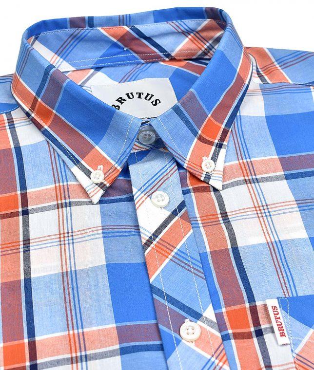 Brutus Blue & Orange Check Shirt