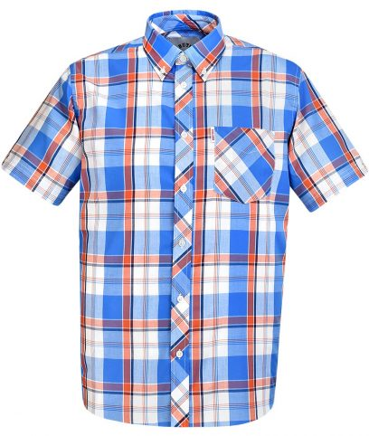 Brutus Blue & Orange Check Shirt