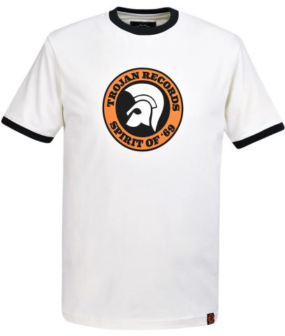 Trojan Records Ecru Spirit Of 69 Helmet T-Shirt