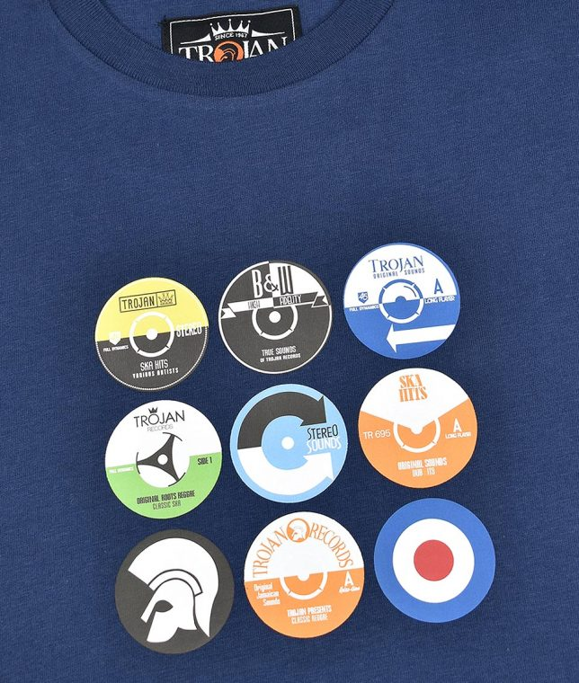Trojan Records Navy Vinyl Label T-Shirt