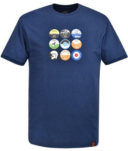 Trojan Records Navy Vinyl Label T-Shirt