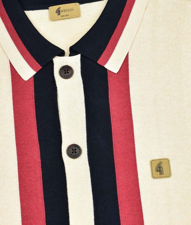 Gabicci Vintage Oat Finsen Stripe Cardigan