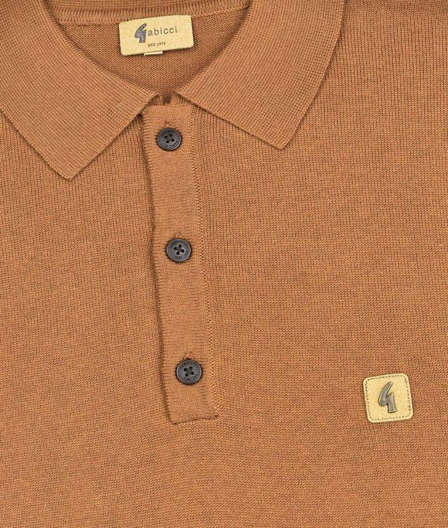 Gabicci Vintage Toffee Francesco LS Polo Shirt