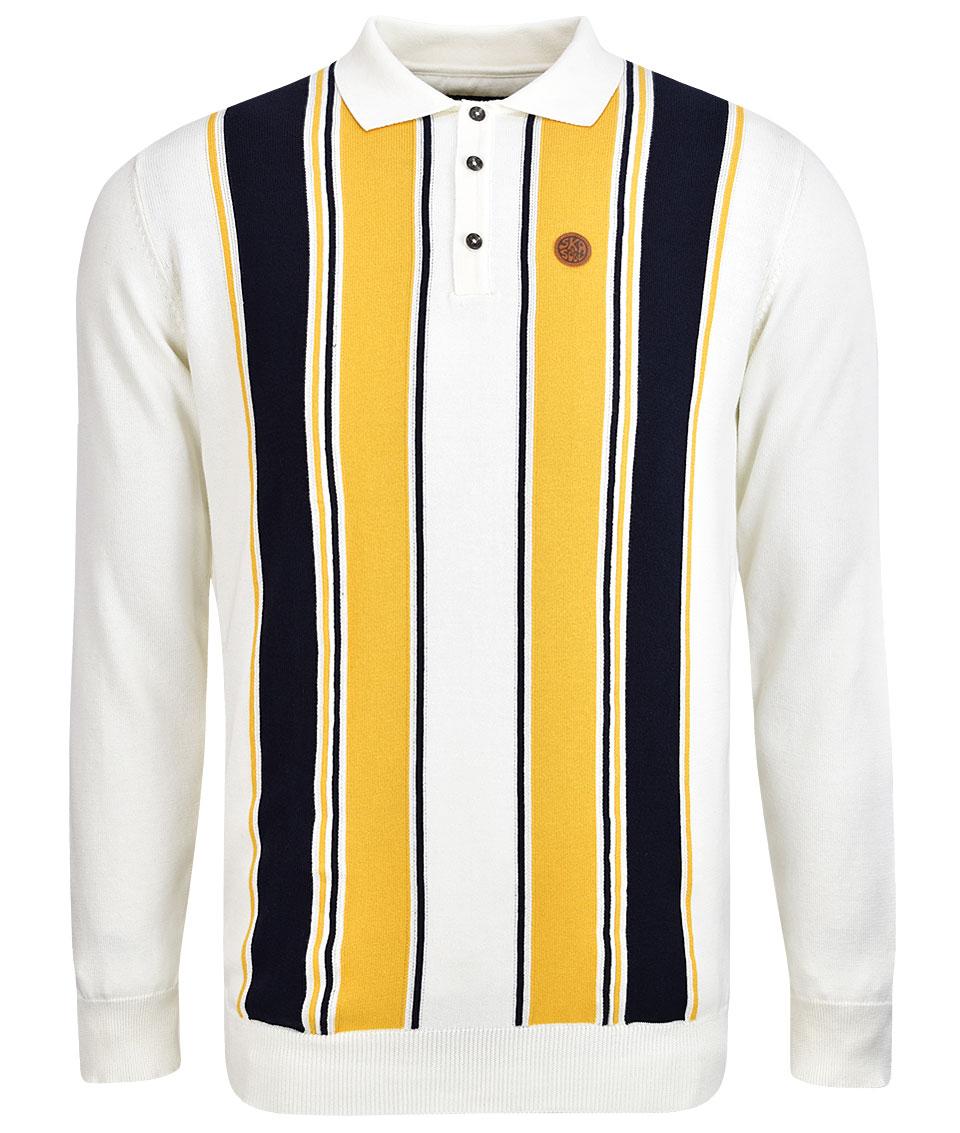 Ecru Ska /& Soul Stripe Front Polo
