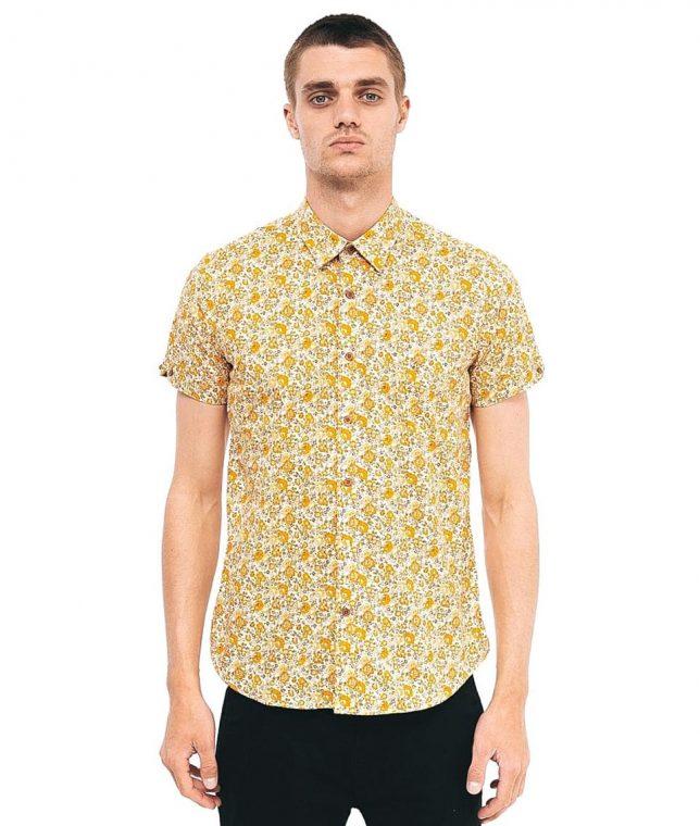 Gabicci Vintage Butterscotch Court Floral Shirt