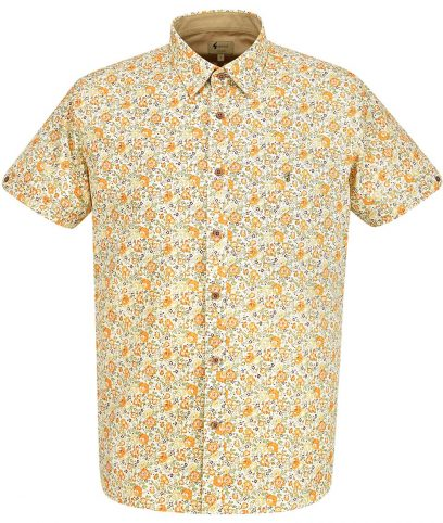 Gabicci Vintage Butterscotch Court Floral Shirt