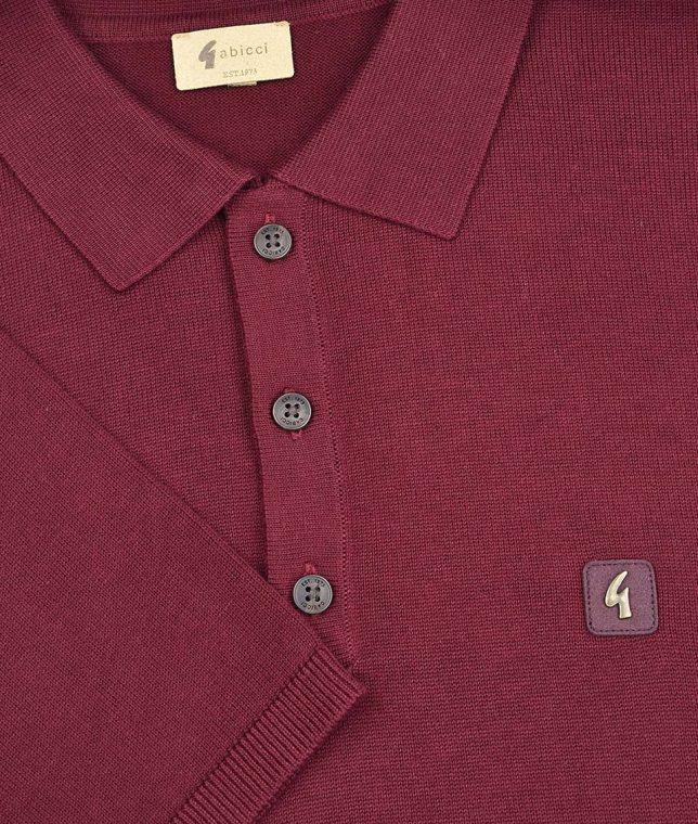 Gabicci Vintage Cabernet Jackson Knit Polo Shirt