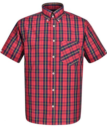 Real Hoxton Red 5123 Tartan Check Shirt