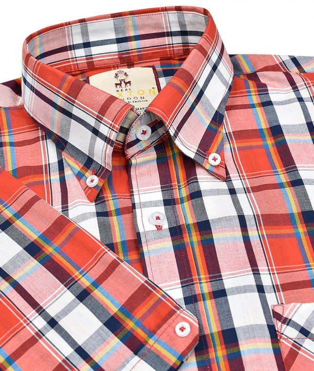 Real Hoxton Red 5126 Check Shirt