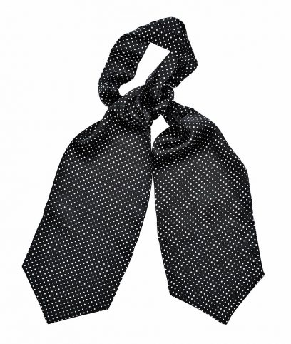 Tootal Black & White Polka Dot Silk Cravat