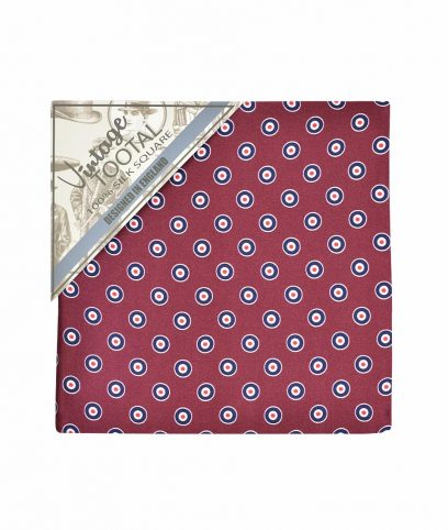 Tootal Wine Mod Target Silk Pocket Square
