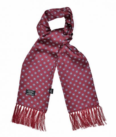 Tootal Wine Mod Target Silk Scarf