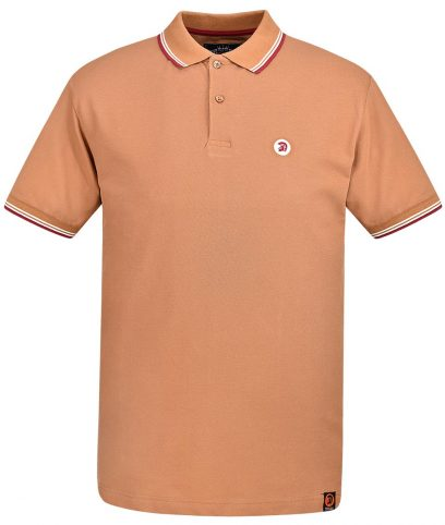 Trojan Records Golden Tan Tipped Polo Shirt
