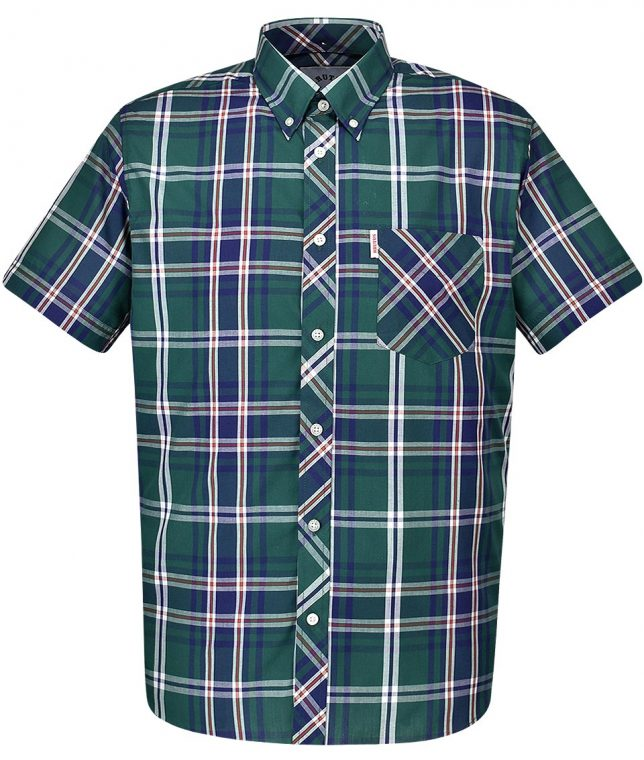Brutus Green & Blue Check Shirt