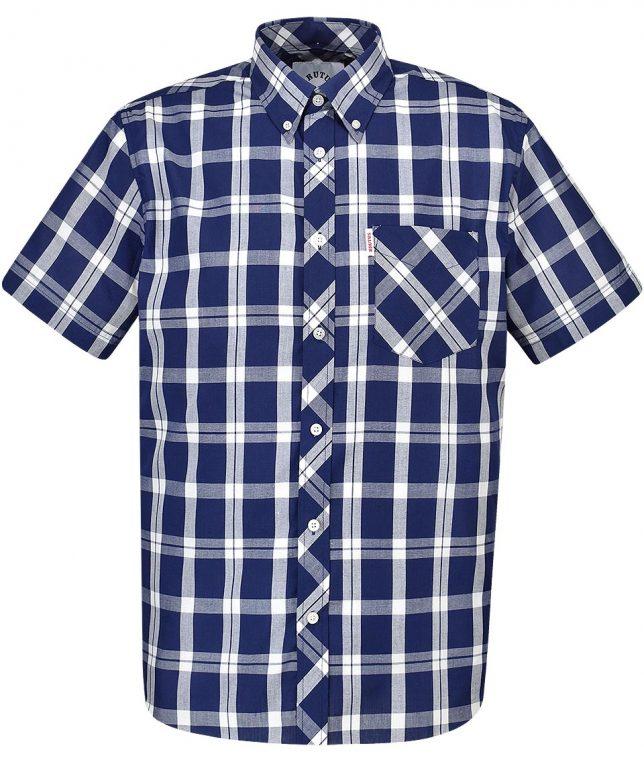 Brutus Navy & White Check Shirt