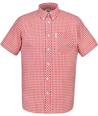 Brutus Red & White Gingham Shirt