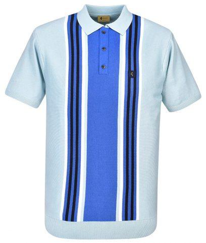 Gabicci Vintage Shade Casbah Stripe Polo Shirt