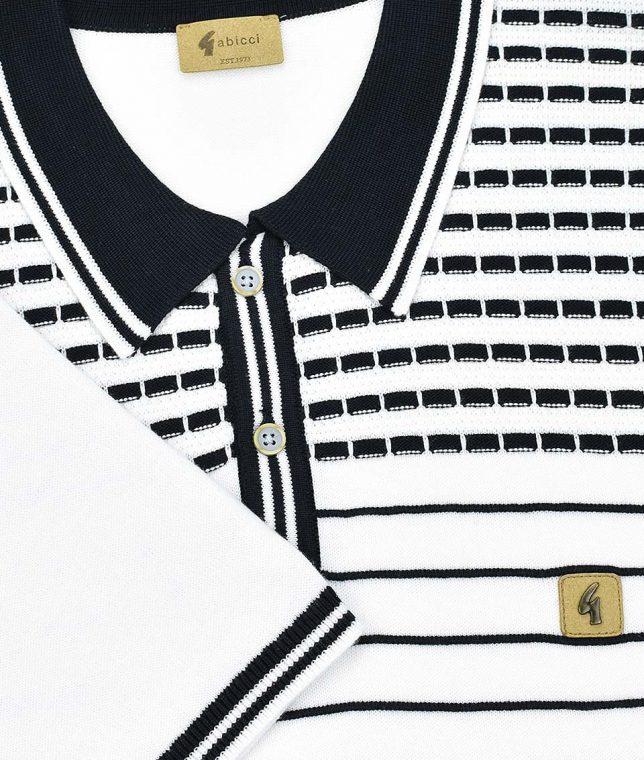 Gabicci Vintage White Canyon Polo Shirt