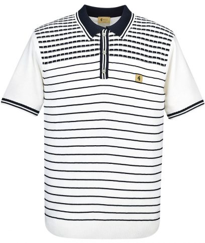 Gabicci Vintage White Canyon Polo Shirt
