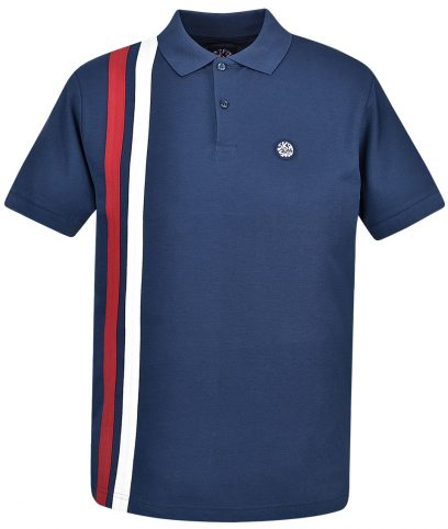 Ska & Soul Navy Racing Stripe Polo Shirt