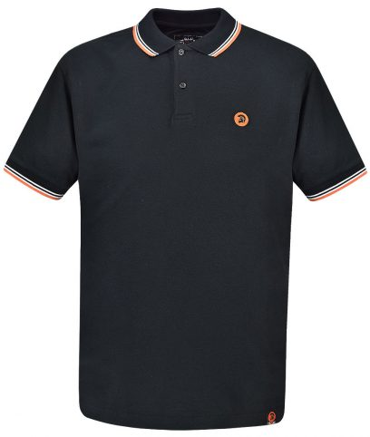 Trojan Records Black Signature Tipped Polo Shirt