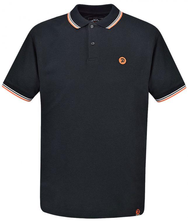 Trojan Records Black Signature Tipped Polo Shirt