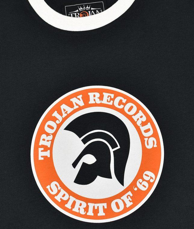Trojan Records Black Spirit Of 69 Helmet T-Shirt