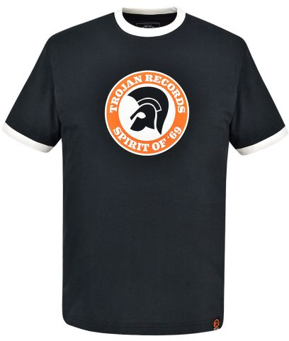 Trojan Records Black Spirit Of 69 Helmet T-Shirt