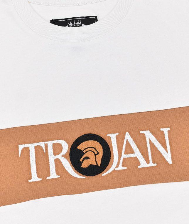 Trojan Records Ecru Block Stripe Logo T-Shirt