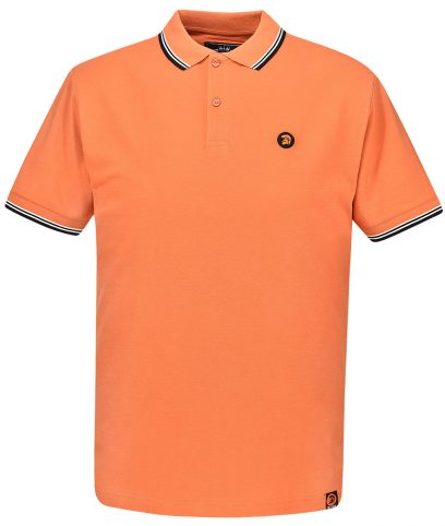 Trojan Records Orange Signature Tipped Polo Shirt