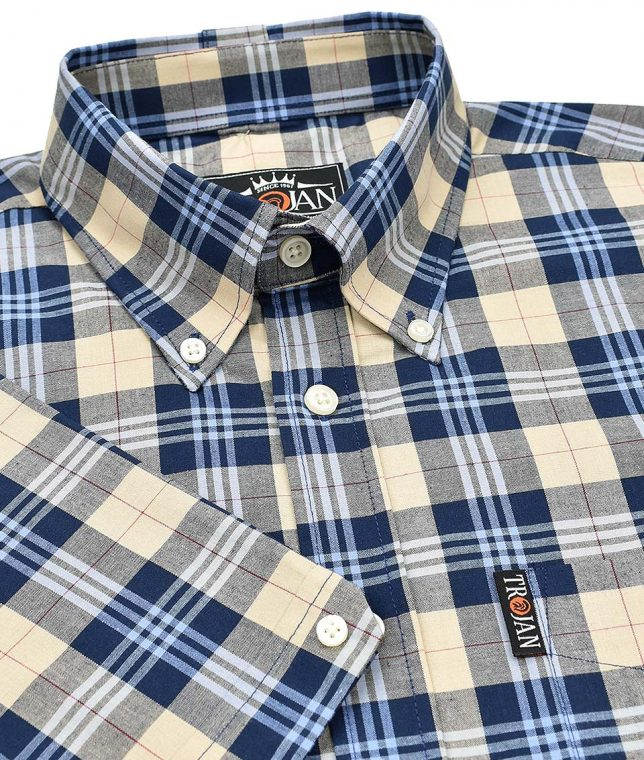 Trojan Records Stone Tartan Check Shirt