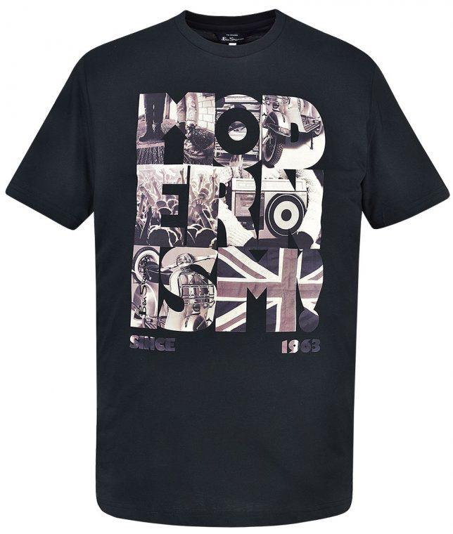 Ben Sherman Black Modernism Print T-Shirt