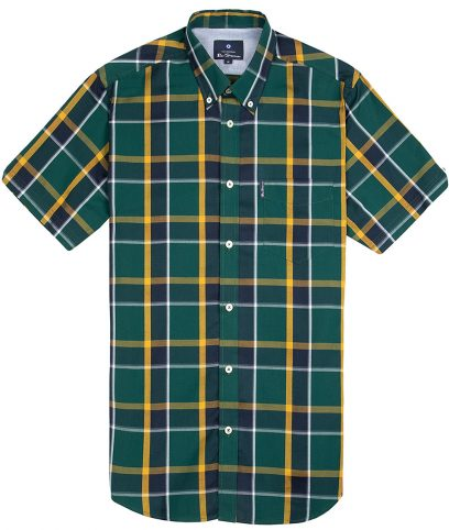 Ben Sherman Green Jamaica Check Shirt