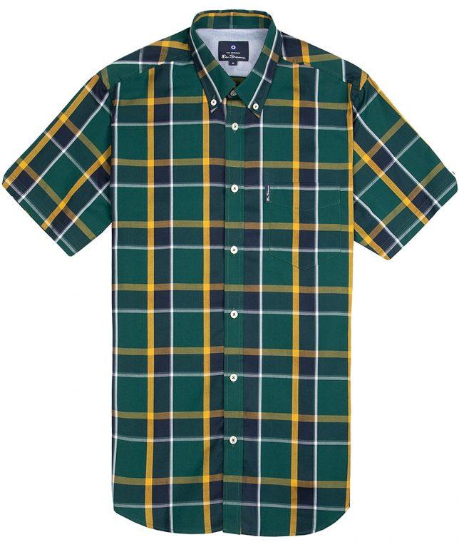 Ben Sherman Green Jamaica Check Shirt