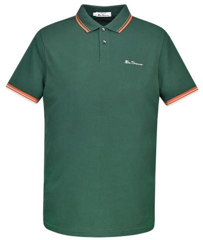 Ben Sherman Green Signature Tipped Polo Shirt