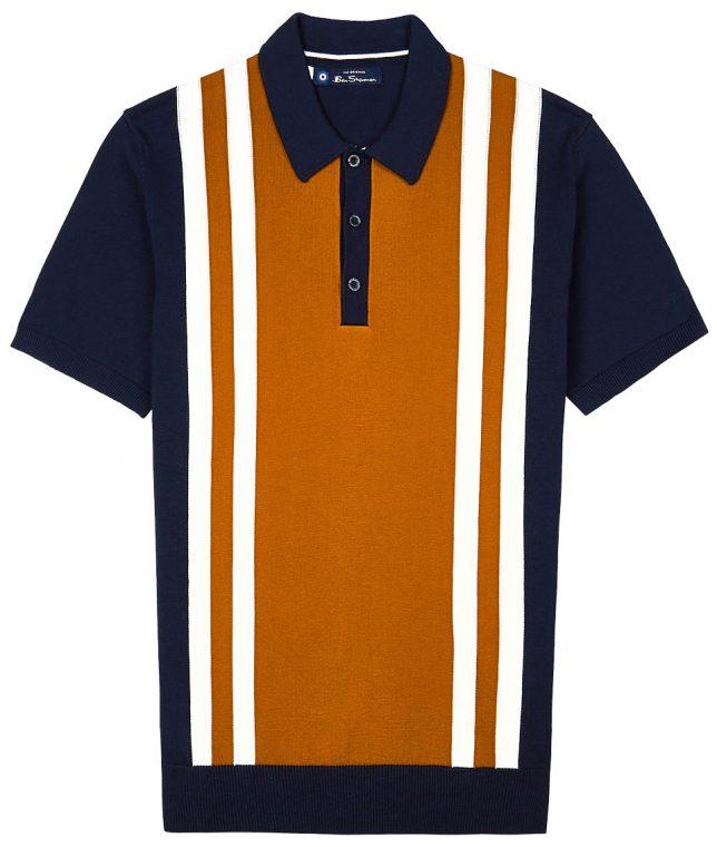 Ben Sherman Navy Mod Stripe Polo Shirt