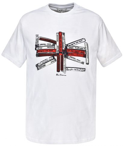 Ben Sherman White Union Music Tapes T-Shirt