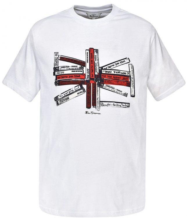 Ben Sherman White Union Music Tapes T-Shirt
