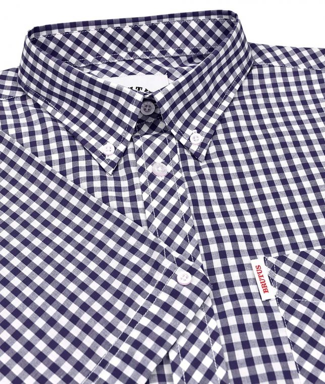 Brutus Navy & White Gingham Shirt
