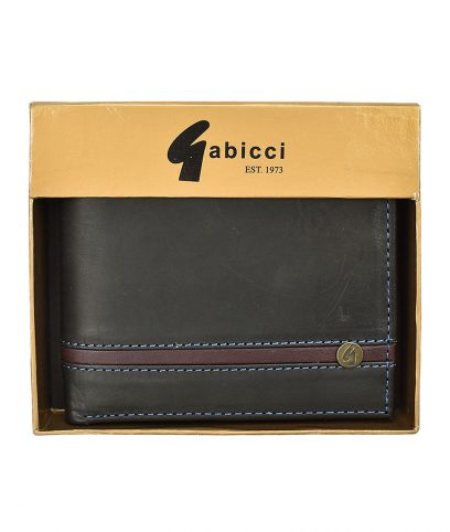 Gabicci Vintage Black Leather Gatefold Wallet