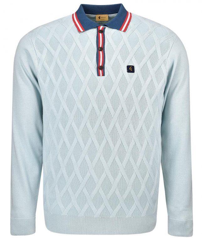Gabicci Vintage Shade Bretton LS Polo Shirt